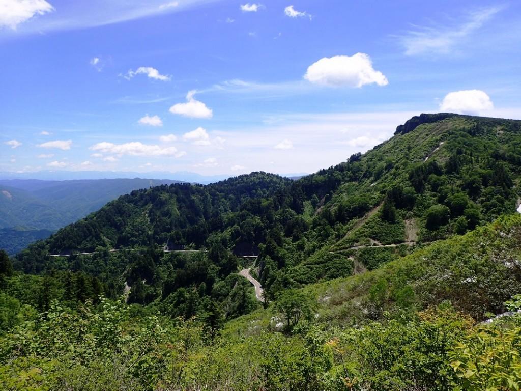 03 展望台付近から望む三方岩岳s・6月頃